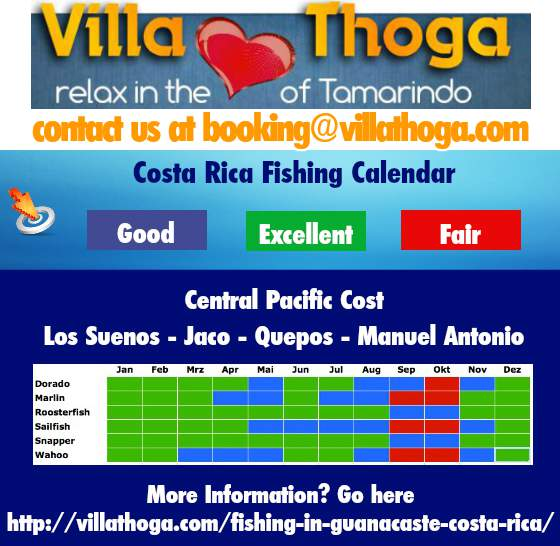 Costa rica fishing guides best fish 2017 for Fishing forecast calendar